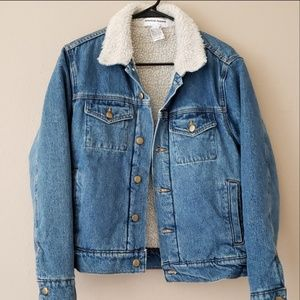 American Apparel sherpa denim jacket xxs